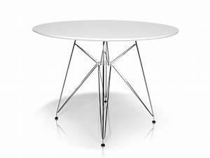 Tischplatte Rund 120 Cm : rolly tisch rund 105 cm wei esstisch real ~ Markanthonyermac.com Haus und Dekorationen