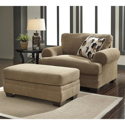 kelemen fabric oversized chair and ottoman in 47100 23 14 pkg