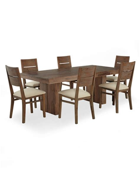 chagne dining room furniture 7 set only at macy s dining table and 6 side chairs