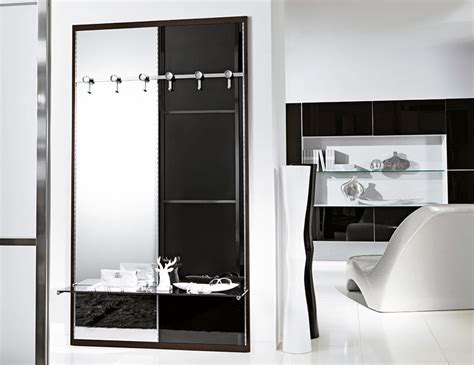 Modern High Gloss Black Unico Hallway Storage System With Island Kitchen With Seating Islands Pottery Barn Brick Tile Backsplash How To Decorate A Black Appliances Top Table Led Ceiling Lights Commercial Floor Tiles Used