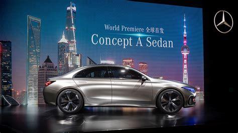 Mercedes-benz Concept A Sedan Previews Future Production