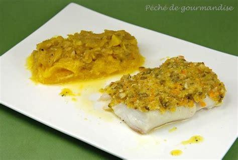 dos de cabillaud en cro 251 te d amandes et pistaches compot 233 e de fenouil au safran et marmelade d