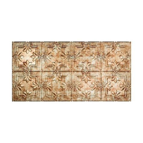 fasade traditional 1 2 ft x 4 ft glue up ceiling tile in bermuda bronze g50 17 the home depot