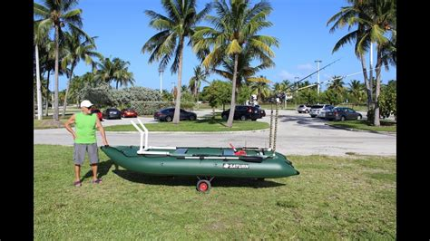 Inflatable Boat Arch by Saturn Kaboat With Custom Made Fishing Rod Holders And