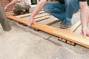 Entkopplungsmatte Auf Holz Verlegen : terrassendielen unterkonstruktion selber bauen 4 schritt anleitung ~ Markanthonyermac.com Haus und Dekorationen