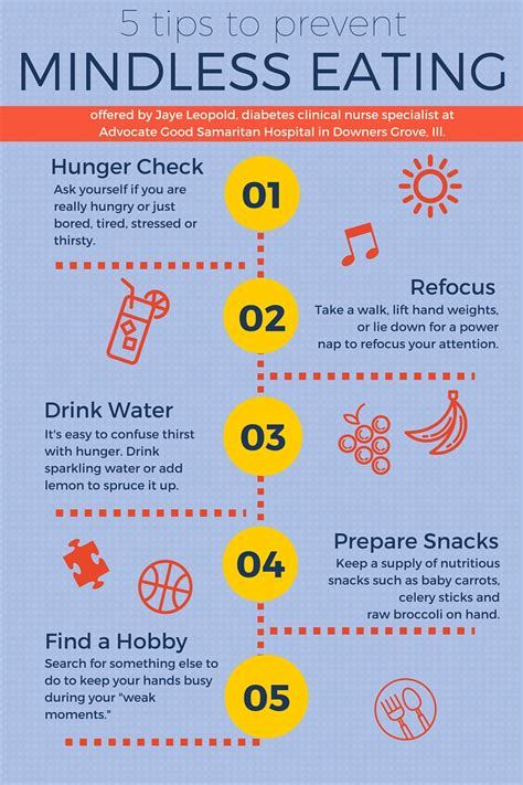 Infographic 5 Tips To Prevent Mindless Eating  Health Enews