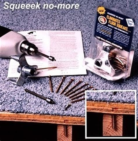 stop floors from squeaking with the squeek no more kit for carpet linoleum and hardwood floors