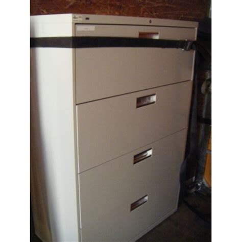 hon 4 drawer lateral locking filing cabinet allsold ca buy sell used office furniture calgary