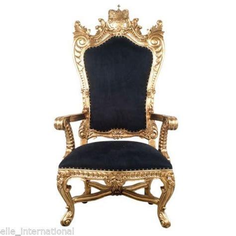 chair in gold velvet mahogany carved king