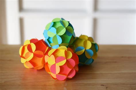 how to make 3d paper ornaments how about orange