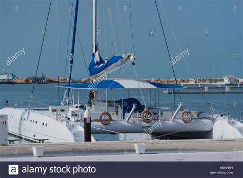 Catamaran Boat Cuba by Catamaran Boat In The Marina Varadero Cuba Stock Photo