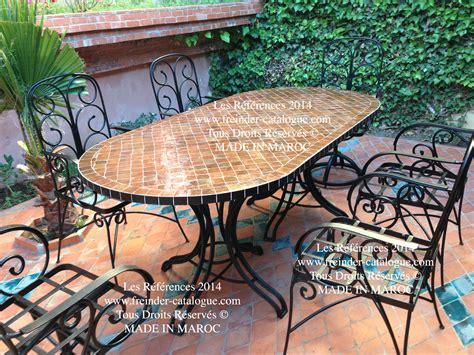 table de jardin mosaique fer forge jsscene des