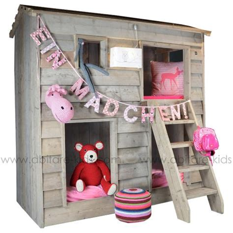 lit cabane superpos 233 pour enfant dutchwood abitare