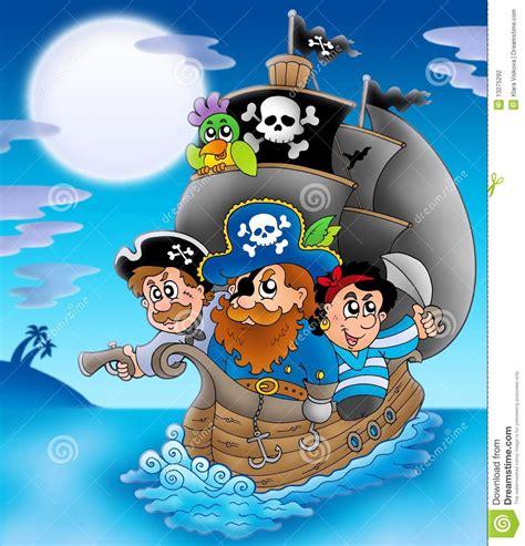 Dessin Animé Bateau Pirate by Bateau 224 Voiles Avec Des Pirates De Dessin Anim 233 La Nuit