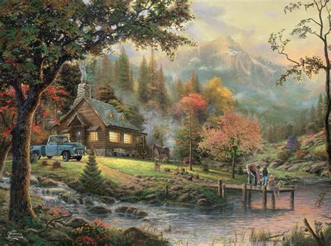 peaceful moments kinkade 1000 jigsaw puzzle