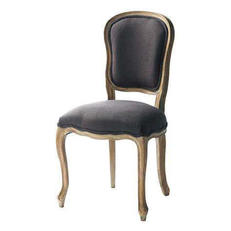 chaise en et orme massif taupe gris 233 versailles maisons du monde