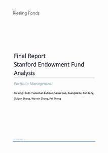 Stanford Endowment Fund - Asset Allocation