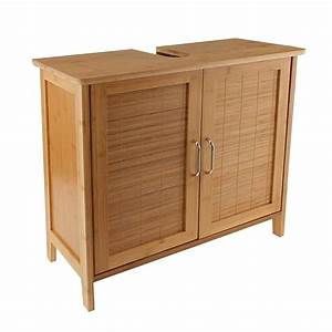 Waschbeckenunterschrank Holz Hängend : bambus waschtischunterschrank bambusschrank badm bel waschbecken unterschrank in braun ~ Markanthonyermac.com Haus und Dekorationen