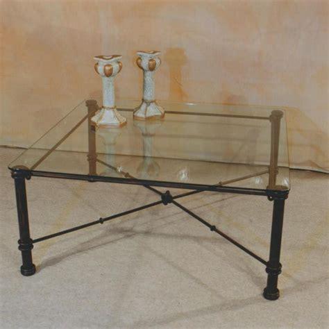 table basse en fer forg 233 et verre fabrication fran 231 aise villa m 233 lodie