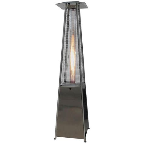gardensun stainless steel 40 000 btu pyramid propane gas patio heater bfc a ss