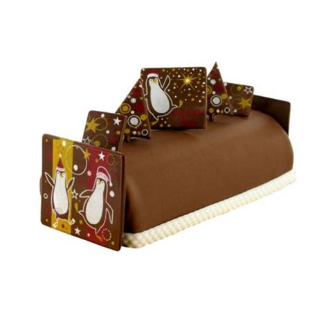 d 233 coration buche de noel en chocolat 224 faire pingouins cerf dellier