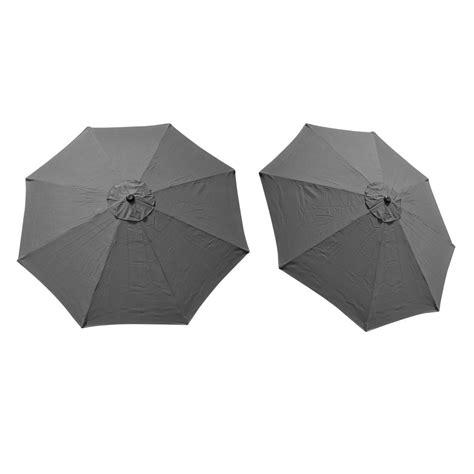 replacement cover canopy 9 ft 8 ribs umbrella grey top
