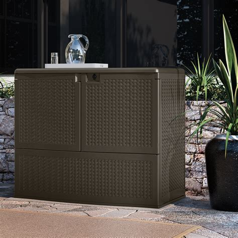 suncast elements backyard oasis with storage outdoor living patio furniture patio deck