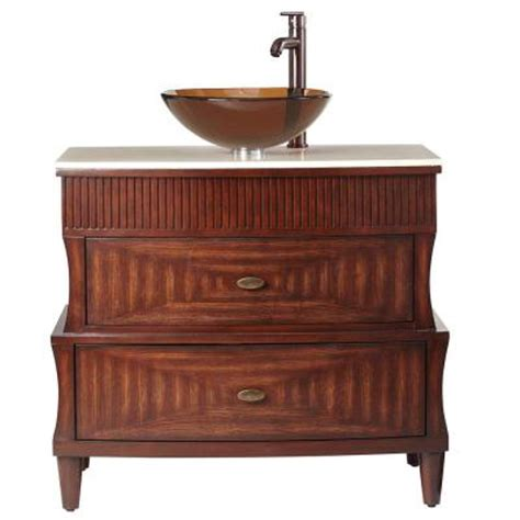 home decorators collection fuji 35 in vanity in walnut with marble vanity top in