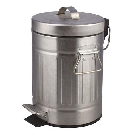 poubelle de salle de bains 3 l chrom 233 sensea leroy merlin