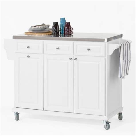 sobuy fkw33 w plan de travail de luxe desserte sur roulettes meuble chariot de cuisine de