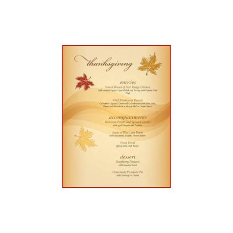 Thanksgivng Dinner Pages Template by 8 Best Images Of Free Printable Thanksgiving Menu