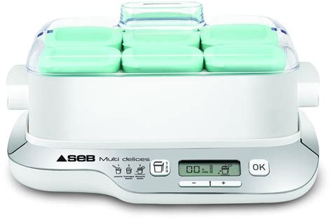 yaourtiere seb yg6571fr multidelices compact 6 pots
