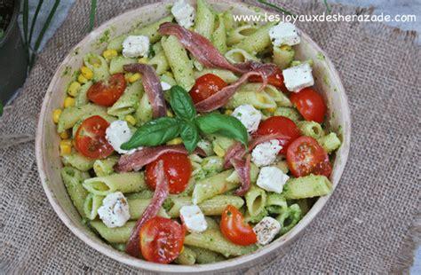 p 226 tes au pesto anchois salade facile les joyaux de sherazade