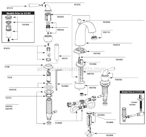 moen bathtub faucet parts diagram