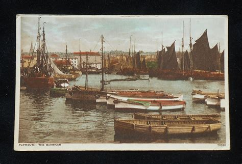 Boat Auctions Devon by 1930s The Barbican Fishing Boats Plymouth Uk Devon Co