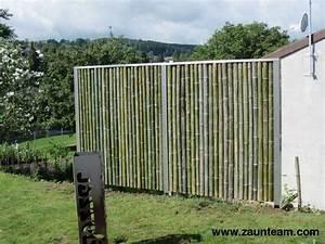 Bambus Edelstahl Sichtschutz : zaun und tor referenzen von zaunteam bambus sichtschutzzaun 8266 steckborn zaunteam ~ Markanthonyermac.com Haus und Dekorationen