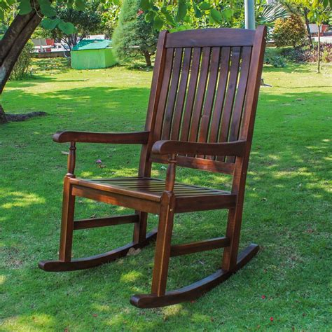Traditional Porch Rocking Chair Patio Furniture Garden
