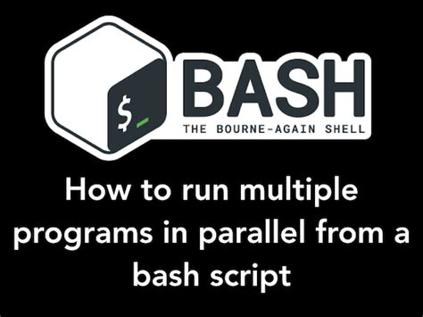 Sleep Command Linux by How To Run Command Or Code In Parallel In Bash Shell Under