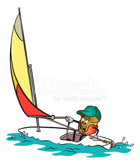 Cartoon Boat Characters by Acorn Cartoon Character Sailing Stock Vector Freeimages