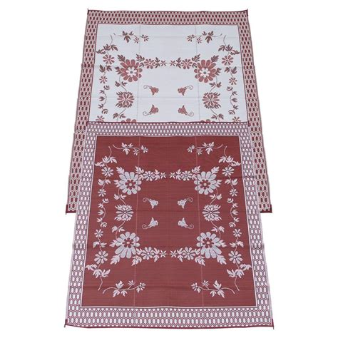 fireside patio mats burgundy wine 9 ft x 12 ft