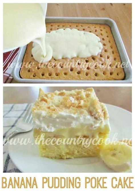 banana pudding poke cake banana pudding poke cake food