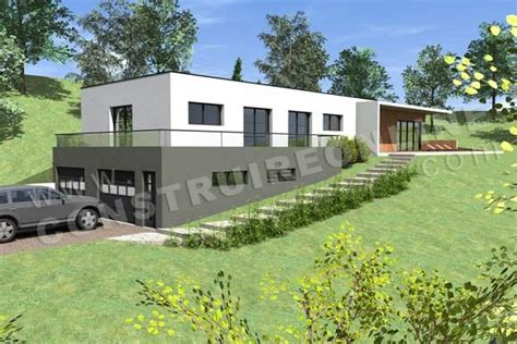 photo maison contemporaine sur terrain en pente maison sur la pente photos and