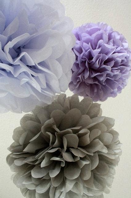 10 tissue paper pom poms your color choice sale purple decorations tea