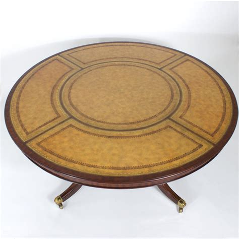 Maitlandsmith Leather Top Round Table For Sale At 1stdibs. Bench Picnic Table Combo. Bookshelf Desks. Big Lots Side Tables. Square Wood Table. Artist Drafting Table. Kitchen Cart Drawers. Cheap Bunk Bed With Desk. Cheap Receptionist Desk