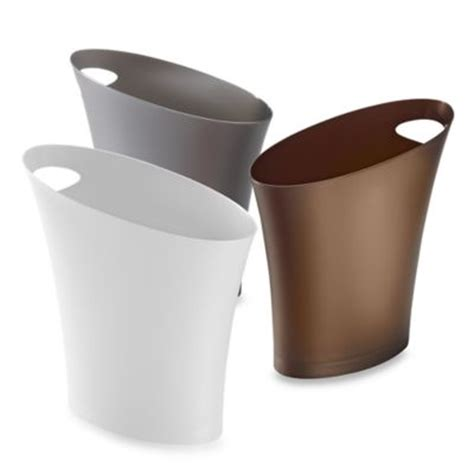 buy slim trash can from bed bath beyond