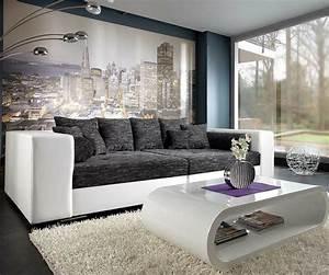 Kaffeetassen Schwarz Weiß : bigsofa marlen 300x140 cm weiss schwarz couch m bel sofas big sofas ~ Markanthonyermac.com Haus und Dekorationen