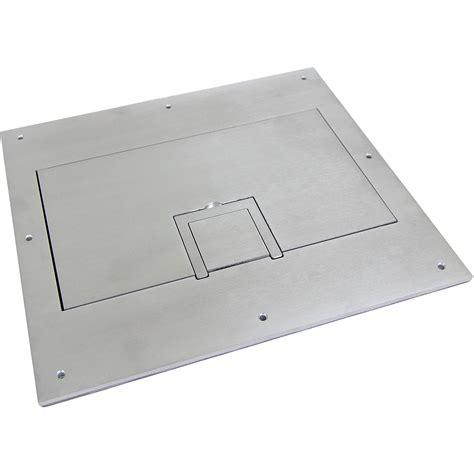fsr solid aluminum cover for fl 600p floor box fl 600p sld alm c
