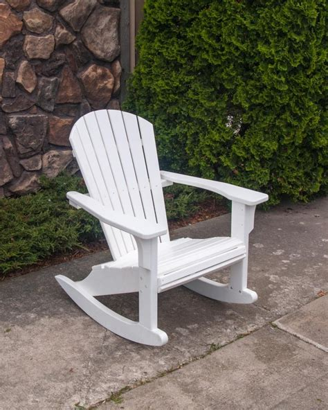 19 polywood seashell adirondack rocking chair polywood presidential rocking chair