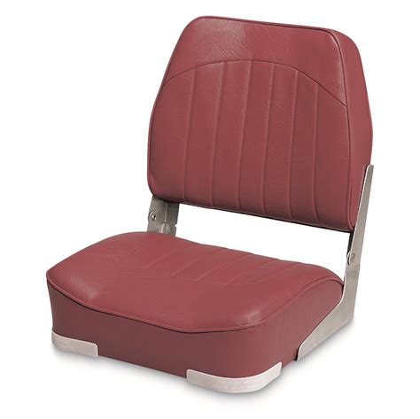 Red Fishing Boat Seats wise low back economy fishing boat seat 140406 fold