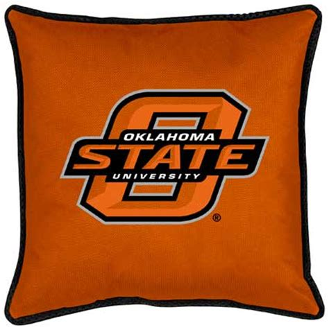 oklahoma state cowboys side lines toss pillow